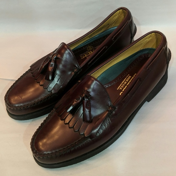 9df6fa1a62f Sebago Brown Leather Loafers New Made in USA